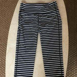 Athleta Striped Capri Legging